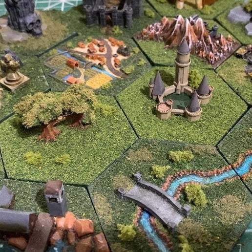 Descargar modelo 3D gratis Azulejos Hexagonales Wargaming / Mighty Empires - Elf / Elven, BigMrTong