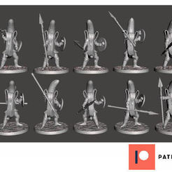 Download free 3D print files Banana Knights with Spears - 10x Unique Poses, BigMrTong