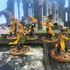 Descargar archivo 3D gratis Banana Frostgrave Warana Warband - Set 3, BigMrTong