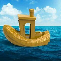Benchy.JPG Télécharger fichier STL gratuit Banana Boat Benchy - 3000 Followers Fun • Design imprimable en 3D, BigMrTong