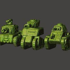 Download free 3D print files 15mm Scale Ork / Orc Tanks, BigMrTong