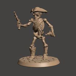 Descargar modelo 3D gratis Miniatura de pirata esqueleto de 28mm de los no-muertos, BigMrTong