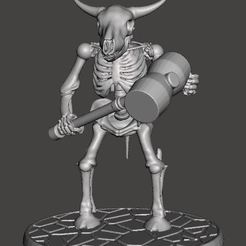 Download free 3D printing templates Skeleton Warrior Beastman Cow/Bull - WarHammer, BigMrTong