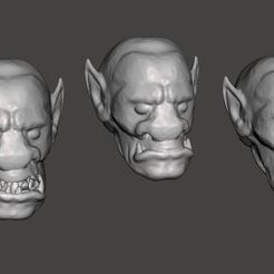 Download free 3D model Lone Wolf Giak / Orc Heads, BigMrTong