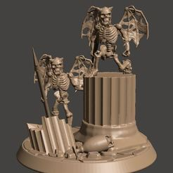 c4f3b0a6f900dee5a65a332fbcd46f18_display_large.JPG Download free STL file Skeleton Evil little Imps / demons - 28mm Undead • 3D printer template, BigMrTong
