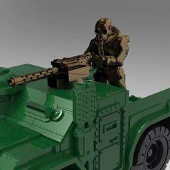 RDgunners000.JPG Download free STL file Rear Deck gunner - 20mm - Darkfuture / Gaslands / FWW • Template to 3D print, BigMrTong