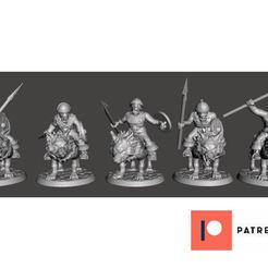 Descargar Modelos 3D para imprimir gratis 28mm - Orco / Goblin / Hobgoblin Wolf Rider Cavalry Squad pt1, BigMrTong
