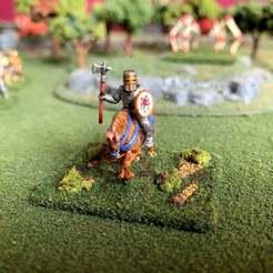 Descargar archivo 3D gratis 15mm HotT Knights of Serbia Army - Caballero Héroe Montado, BigMrTong