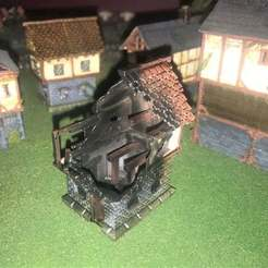Télécharger fichier imprimante 3D gratuit Burnt Out Fantasy Wargames House / Building 15mm, BigMrTong