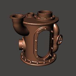 Télécharger fichier 3D gratuit Modèle de tuyau d'aquarium Steampunk - Naufrage de la tuyauterie rouillée, BigMrTong