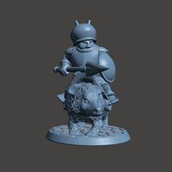 Descargar Modelos 3D para imprimir gratis Caballería montada con lanza y escudo - 28mm, BigMrTong