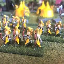 Download free 3D printer designs 15mm Banana Knight Bows / Longbows Wargames Figures - HotT, BigMrTong