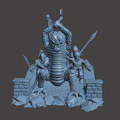 Impresiones 3D gratis Diorama de la batalla en el puente, BigMrTong