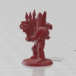 KK00.JPG Download free STL file Kernel Korn - Heavy Weapon, Chaos Space Knight • 3D printable object, BigMrTong