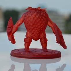 """Descargar archivos STL gratis 28mm Strawberry Knight v1 - """"Strawbarian"""", BigMrTong"""