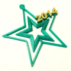 Free 3D model Simple Star Ornament, Dournard
