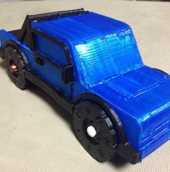 Truck_crop3_display_large.jpg Download free STL file Rolling Ruler / Truck Pencil Case - #backtoschool • 3D print model, Dournard