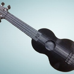 Download free 3D printing models Playable Ukulele - Printable w/ no Supports, Dournard