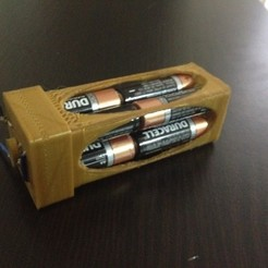 Download free STL AA Battery Box  - Just Add Wire, Dournard