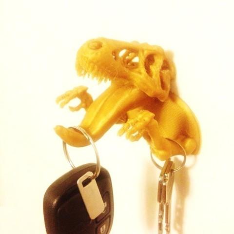 Free 3D printer designs T-Rex Remix Key Hook, Dournard