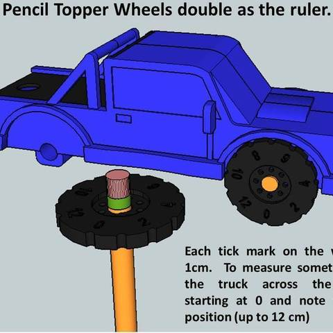Truck1_display_large.jpg Download free STL file Rolling Ruler / Truck Pencil Case - #backtoschool • 3D print model, Dournard