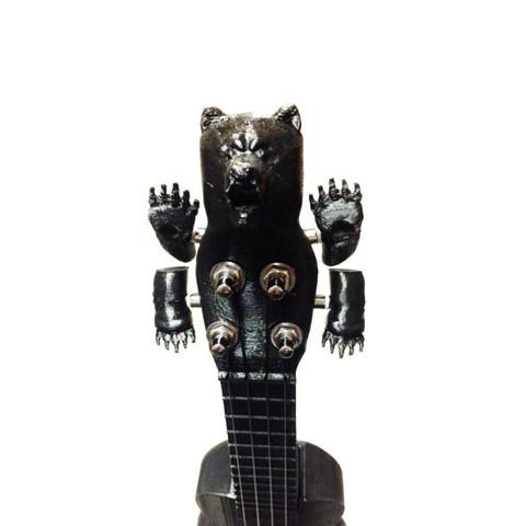 Free 3D printer files Bear-u-lele /  The Ukulele with a Bear Head!, Dournard