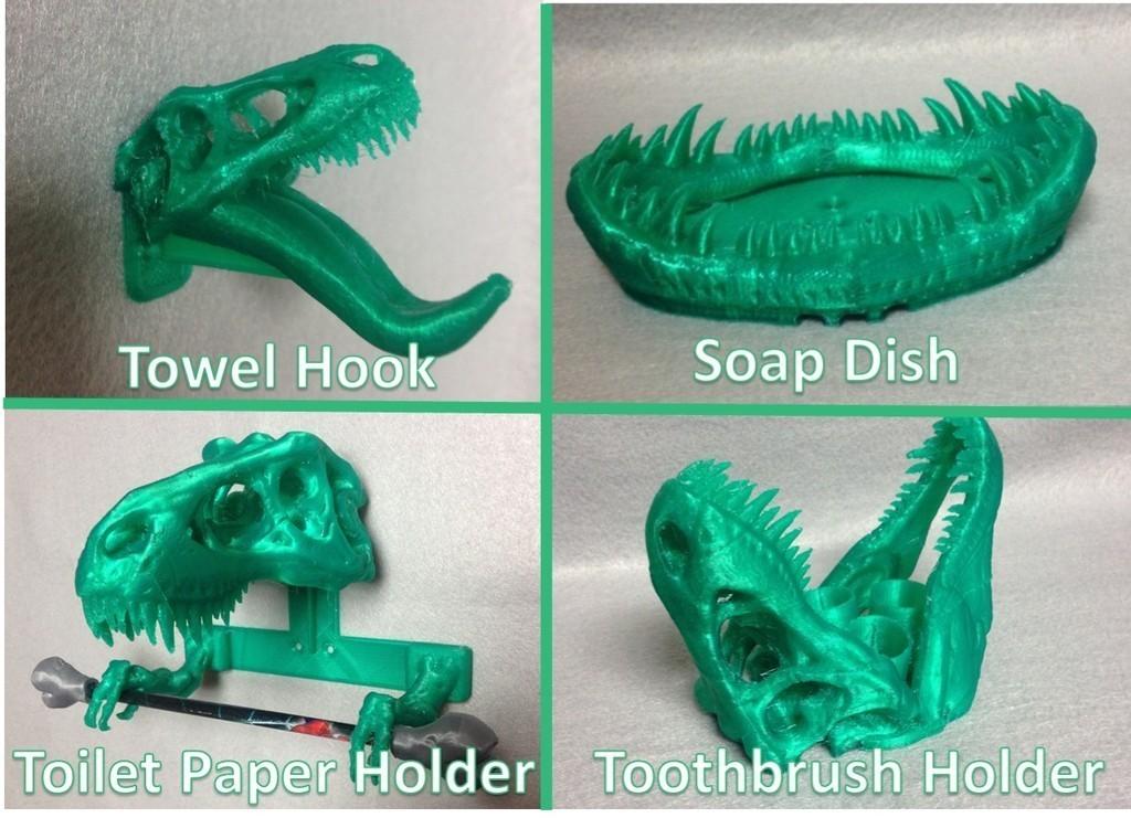 3400a_display_large.jpg Download free STL file T-REX Remix Bathroom Set • Design to 3D print, Dournard