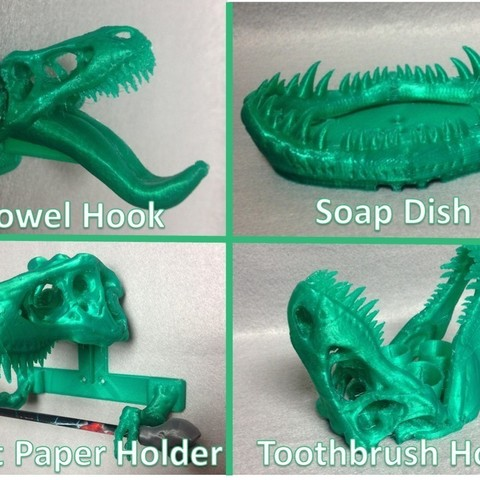 Free STL file T-REX Remix Bathroom Set, Dournard