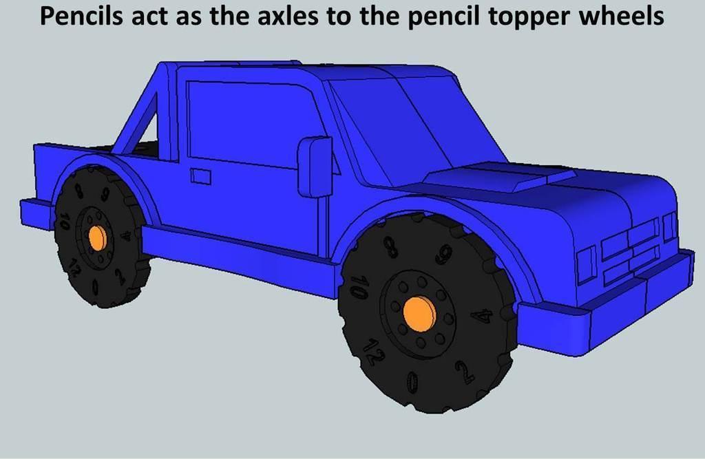 Truck2_display_large.jpg Download free STL file Rolling Ruler / Truck Pencil Case - #backtoschool • 3D print model, Dournard