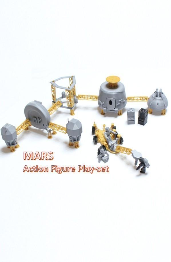 a2_display_large.jpg Télécharger fichier STL gratuit Astronaut Action Figure Play Set pour l'invasion extraterrestre de Mars • Modèle à imprimer en 3D, Dournard