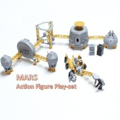 Download free 3D model Astronaut Action Figure Play Set for Alien invasion of Mars, Dournard