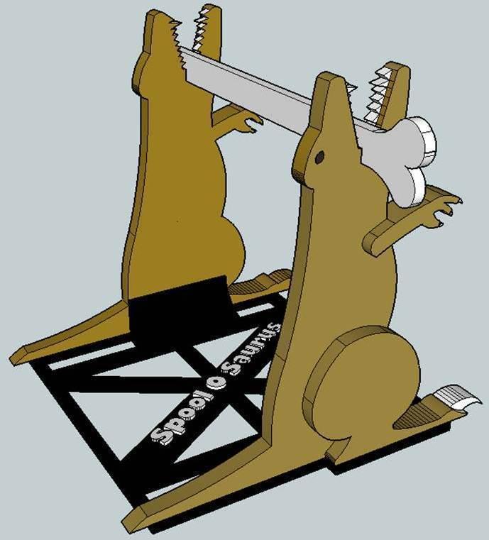 Spool3_display_large.jpg Download free STL file Spool O Saurus - Dinosaur Spool Holder for 3D printers • 3D printer model, Dournard