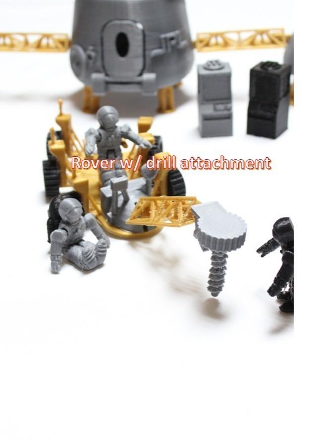 a14_display_large.jpg Télécharger fichier STL gratuit Astronaut Action Figure Play Set pour l'invasion extraterrestre de Mars • Modèle à imprimer en 3D, Dournard