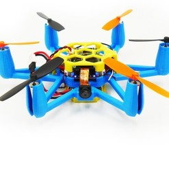 Free STL Flexbot Hexacopter V2.0 With FlexCam, 3DflyerBertrand