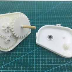 Modelos 3D para imprimir gratis Juego de engranajes FlexCar, 3DflyerBertrand