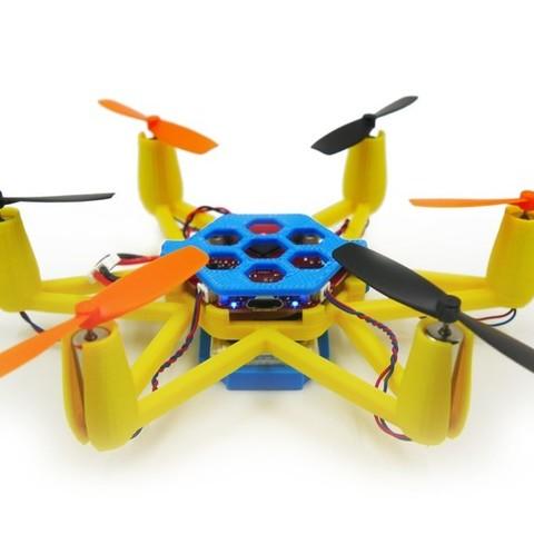 Download free STL files Flexbot Hexacopter V2.0, 3DflyerBertrand