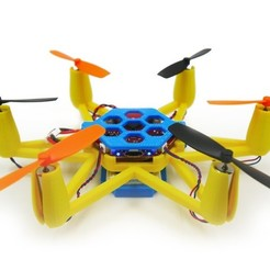 Download free STL files Flexbot Hexacopter V2.0, 3DflyerBertrand
