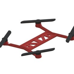 Download free 3D printing templates Toy Quadcopter, 3DflyerBertrand