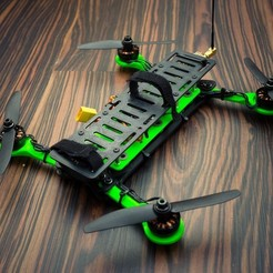 Free 3D print files Hovership MHQ - Foldable Mini H-Quadcopter, 3DflyerBertrand