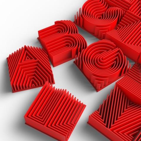 Download free 3D model Heatwave 3d Printable Typeface, Minnarrra