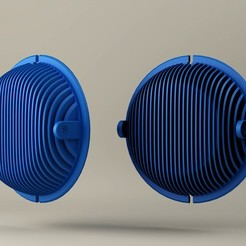 Free 3D printer designs Beyer Dynamic Replacement Earcups, Minnarrra