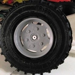 Free 3D printer files Open RC tractor wheel RIM (ID of Tyre should be 73 mm), Aakaar_Lab
