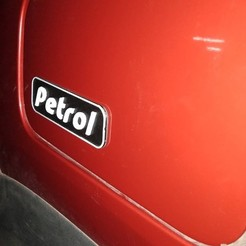 Download free 3D printing designs 3D Petrol label for cars, Aakaar_Lab