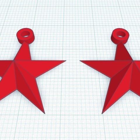 Télécharger fichier STL gratuit Boucle d'oreille en forme d'étoile dessinée en Tinkercad, Aakaar_Lab