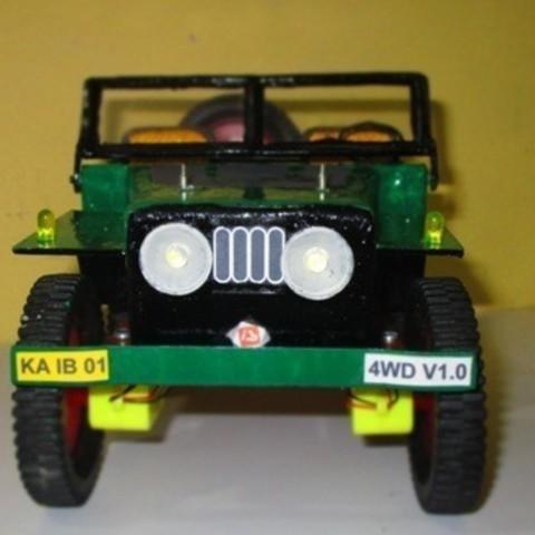 Télécharger modèle 3D gratuit Motoréducteur Jeep DC 4WD, Aakaar_Lab