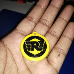 Free STL files Royal Enfield Logo key chain, Aakaar_Lab