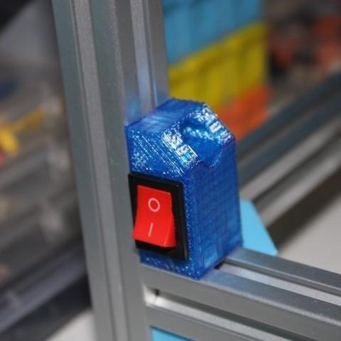 Descargar Modelos 3D para imprimir gratis Soporte de interruptor basculante con esquina cum para extrusión 2020, Aakaar_Lab
