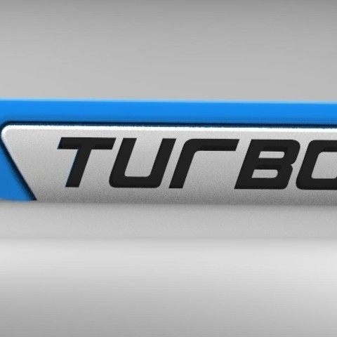 Download free 3D printing templates Turbo 3D logo for cars trucks, Aakaar_Lab