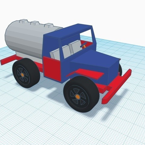 Download free 3D printer designs Tanker Truck designed in Tinkercad, Aakaar_Lab