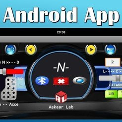 Download free 3D printing templates Android app based Bluetooth controlled RC Tractor (Arduino Nano), Aakaar_Lab
